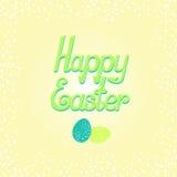 Lettrage heureux de Pâques Photographie stock libre de droits