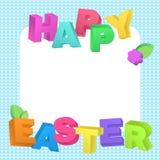 Lettrage heureux de Pâques dans le style réaliste Image libre de droits
