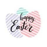 Lettrage heureux de Pâques pour la carte de voeux Image libre de droits