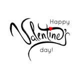 Lettrage heureux de Saint-Valentin Affiche de typographie avec le handwritt Photographie stock libre de droits