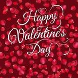 Lettrage heureux de Saint-Valentin ENV 10 Photo libre de droits
