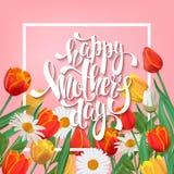 Lettrage heureux du jour de mère Images libres de droits