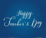 Lettrage heureux tiré par la main de jour de Teacher's Images stock