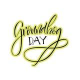 lettrage Jour de Groundhog Photographie stock libre de droits
