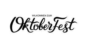 Lettrage manuscrit d'Oktoberfest illustration libre de droits