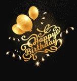 Lettrage moderne manuscrit de brosse de joyeux anniversaire image libre de droits
