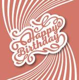 Lettrage moderne manuscrit de brosse de joyeux anniversaire images stock