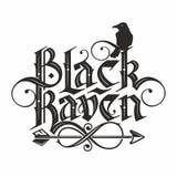 Lettrage noir de corbeau illustration libre de droits
