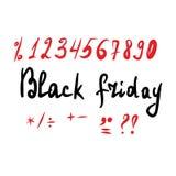 Lettrage noir de vendredi et a illustration de vecteur