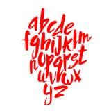 Lettrage rouge d'alphabet Images stock