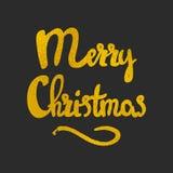 Lettrage tiré par la main de Joyeux Noël photos stock