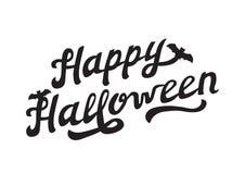 Lettrage tiré par la main effrayant Halloween heureux Photographie stock libre de droits