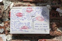 Lettre à Juliet Images libres de droits