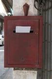 Lettre à marquer d'une pierre blanche de boîte Photographie stock libre de droits