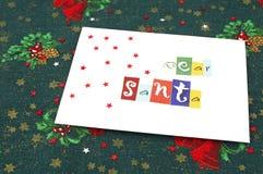 Lettre à Santa image libre de droits
