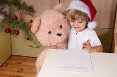 Lettre à Santa Photographie stock