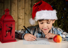 Lettre à Santa Photo stock