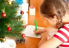 Lettre à Santa Photos stock