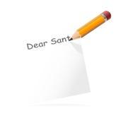 Lettre à Santa, vecteur Image stock