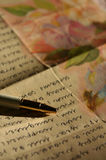Lettre-écriture Photos libres de droits