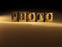 Lettre Photos stock