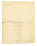 lettre arrière d'antiquité dévoilée Photographie stock libre de droits