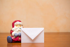 Lettre au père noël Photo stock