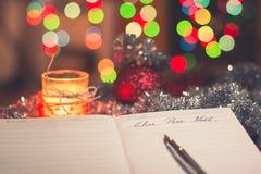 Lettre au Père Noël Stock Images