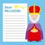 Lettre au Roi Melchior illustration de vecteur