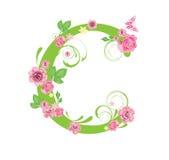Lettre avec des roses Photographie stock