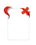 Lettre avec la décoration de chapeau et de cadeau de Noël Photographie stock libre de droits