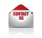 Lettre avec le contact nous carte Images libres de droits