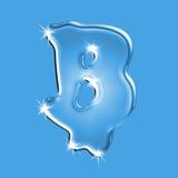 Lettre B de l'eau Image stock