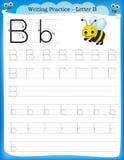 Lettre B de pratique en matière d'écriture Photo stock