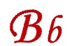 Lettre B et b d'alphabet faits à partir des fleurs de rose de rouge d'isolement sur le fond blanc Photographie stock