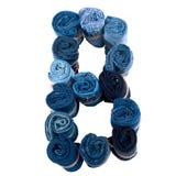 Lettre B faite de petit pain de jeans Photo libre de droits