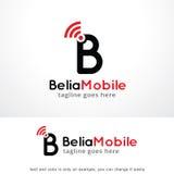 Lettre B Logo Template Design Vector mobile, emblème, concept de construction, symbole créatif, icône Photos stock