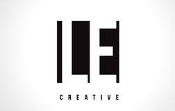 Lettre blanche Logo Design de LE L E avec la place noire Photographie stock