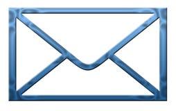 Lettre bleue Images stock