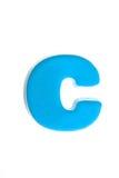 Lettre bleue c Images stock