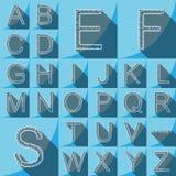 Lettre bleue d'alphabet de forme de ressort de fond a à z Illustration Libre de Droits