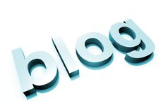 Lettre bleue du blog 3D Photographie stock