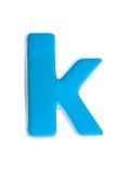 Lettre bleue k Images libres de droits