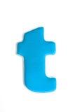 Lettre bleue t Images libres de droits