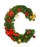 Lettre C d'alphabet de Noël Images stock