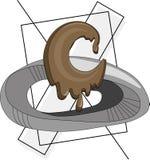 Lettre C de chocolat illustration libre de droits