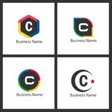 Lettre C Logo Set Design Photos stock
