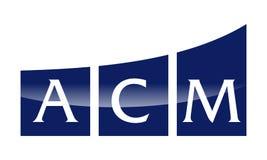 Lettre A.C.M Modern Photographie stock libre de droits