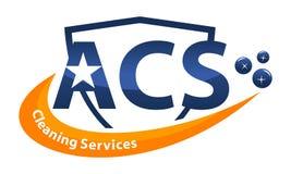 Lettre A.C.S de services de nettoyage Photographie stock