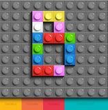 Lettre colorée M des briques de lego de bâtiment sur le fond gris de lego Lettre M de Lego illustration libre de droits